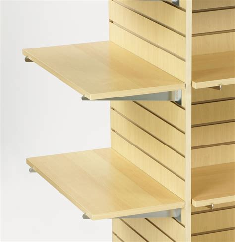 maple laminate slatwall shelf flat panel design