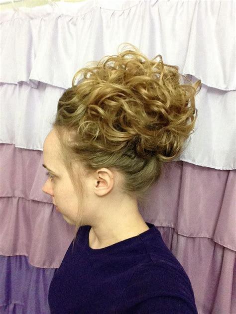 formal hairstyles curly bun pentecostal hair curly updo hair pinterest