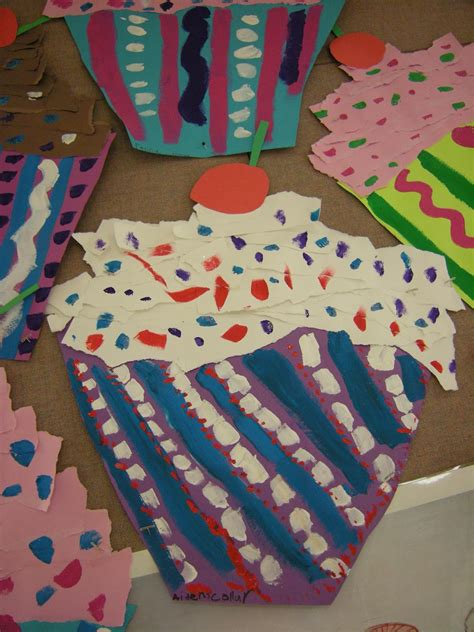 pattern art grade 2 artolazzi wayne thiebaud cupcakes