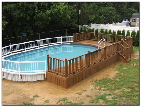 images of above ground pools above ground swimming pool deck images page