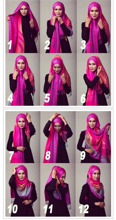 hijab tutorial step by step pinterest the world s catalog of ideas