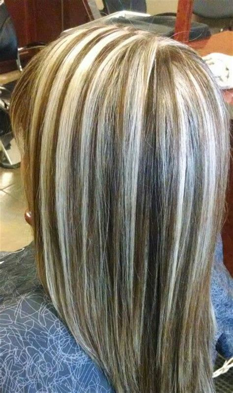 platinum highlights for graying brunette hair platinum highlights on brown hair