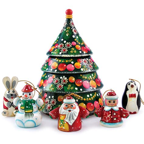 nesting doll w christmas tree ornament set product sku