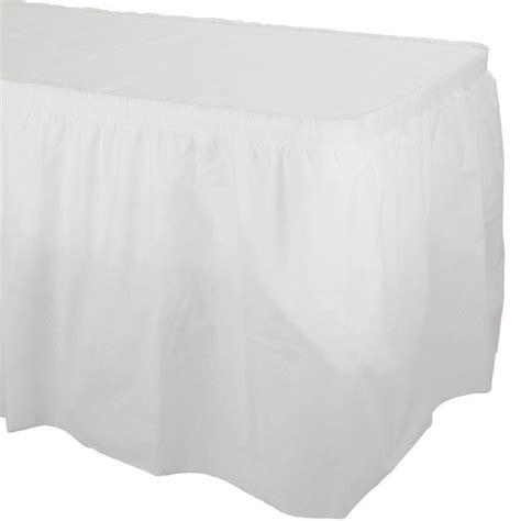 linen like table skirts white better than linen table skirting plastic table skirts