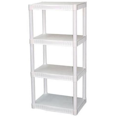 white plastic storage shelves white 4 tier shelves heavy duty plastic display shelf 4