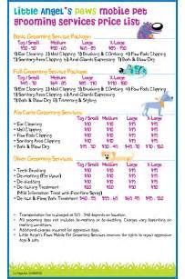 Dog Grooming Price List Templates From Http Www Thegroomerssecret Com Increase Your Profits Grooming Price List Template