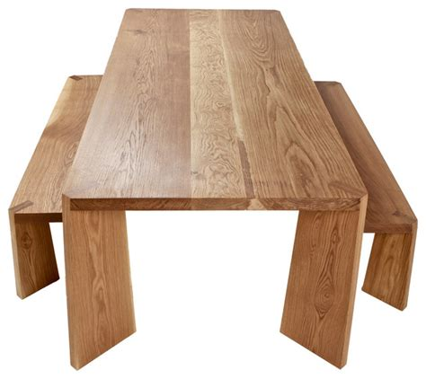 Solid Oak Dining Table   Contemporary   Dining Tables