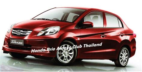 honda brio thailand price honda brio amaze first images from the launch
