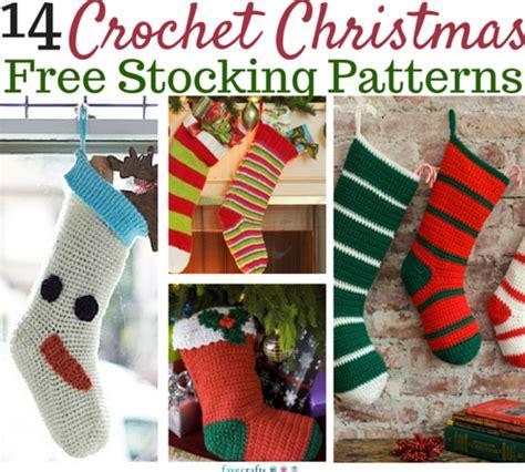 crochet pattern for large christmas stocking crochet christmas stockings 14 free patterns favecrafts com