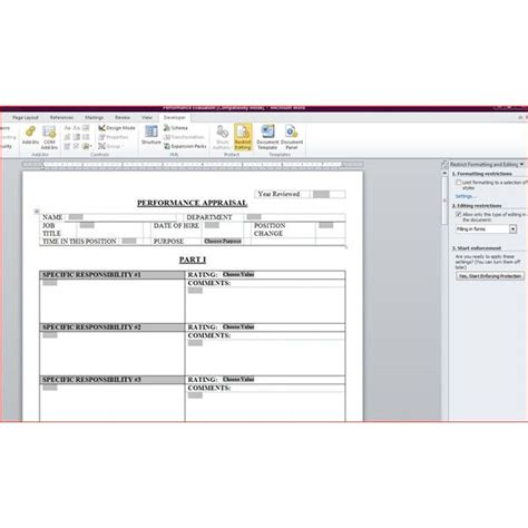 employee evaluation template free free downloadable performance appraisal form
