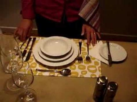 Fancy Place Setting How To Set A Beautiful Dinner Table Youtube