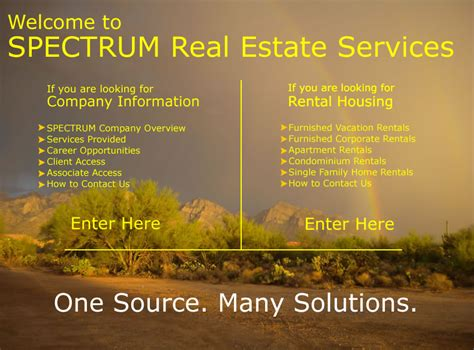 spectrum real estate services one source many solutions