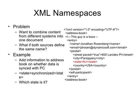 tutorial on xml namespaces xcap tutorial