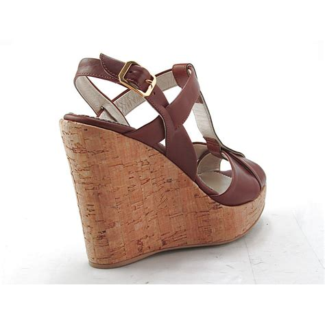 comfortable wedges small or large comfortable sandal with cork wedge in tan