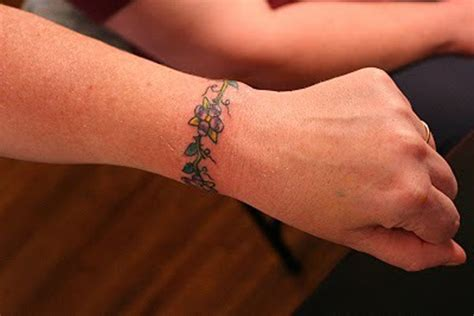 flower vine wrist tattoos 11 beautiful bracelet designs