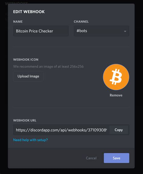 bitcoin bot tutorial discord webhook tutorial to check bitcoin price with