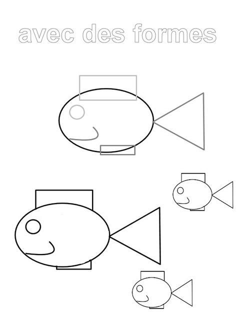 dessin de poisson en forme géométrique | colour | Dessin