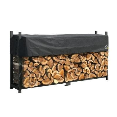 Home Depot Log Rack by 8 Ft Ultra Duty Firewood Rack With Cover 90475 The Home Depot