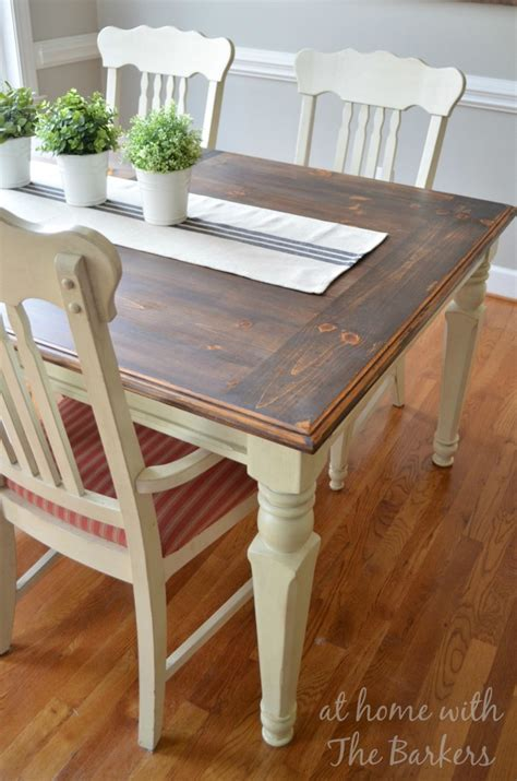 Dining Room Farm Tables farmhouse table makeover at home with the barkers