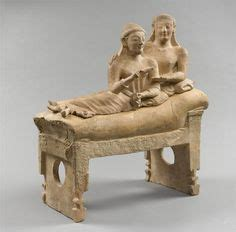 sarcophagus of reclining couple sarcophagus with reclining couple from cerveteri italy