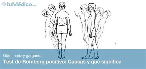 test pattern que significa test de romberg positivo causas y qu 233 significa