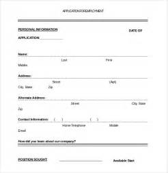 blank employment application template application template 10 free word pdf documents