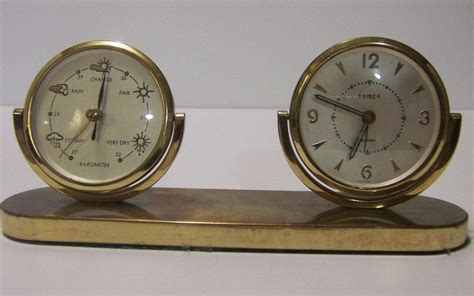 mechanical desk clock mechanical desk clock with barometer kk collectibles