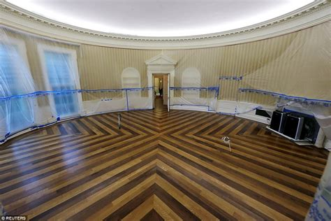 oval office renovation pictures show the white house getting major upgrade