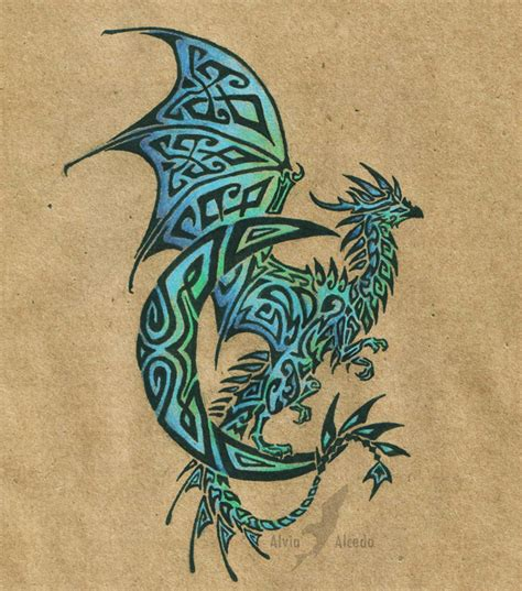lunar dragon tattoo by alviaalcedo on deviantart
