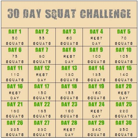30 day squat challenge for 30 day squat challenge slimming solutions