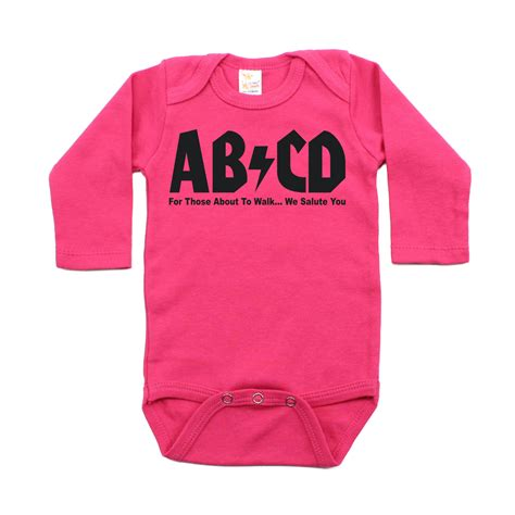 baby clothing abcd retro rocker baby one