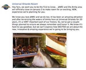 Universal studios hollywood jaws ride closed