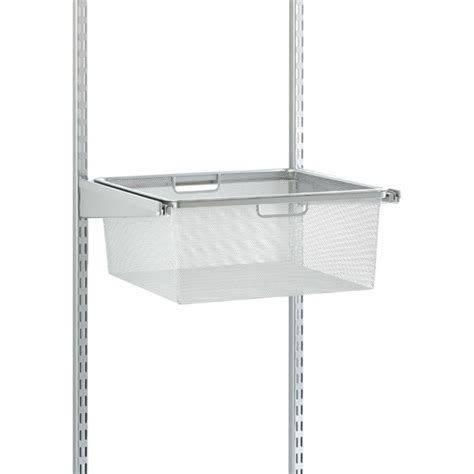 hanging shelf with drawer platinum elfa classic 18 quot mesh hanging drawers frame