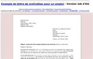 Exemple Lettre De Motivation Saisonnier Exemple Modele Lettre De Motivation Emploi Saisonnier