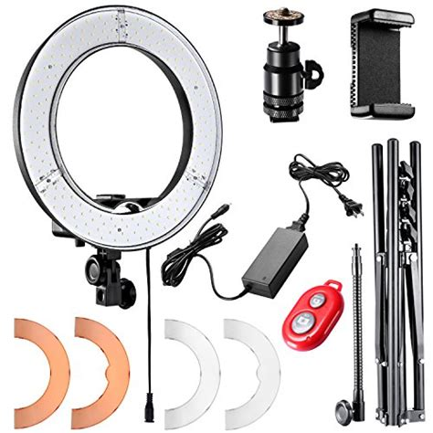 neewer led ring light neewer ring light 14 inch led with light stand 36w 5500k