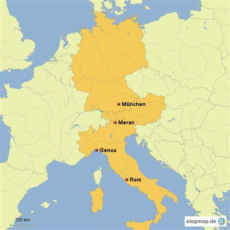 karte deutschland italien deutschland italien mcgfb landkarte f 252 r europa