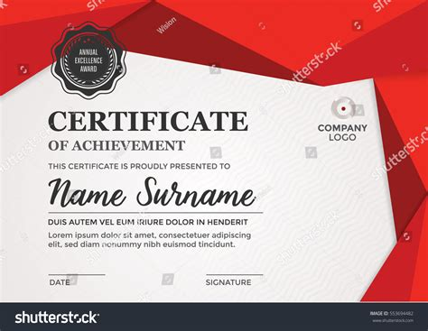 design graduation certificate certificate design diploma template modern layout stock