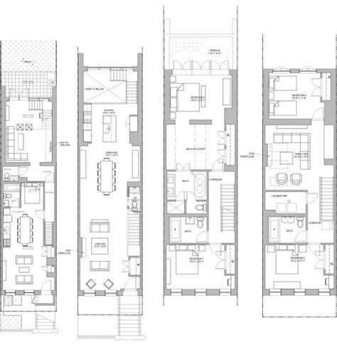 brooklyn brownstone floor plans 25 best ideas about luxury townhomes on pinterest