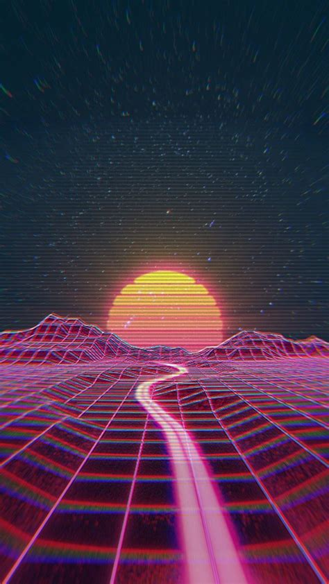 retro wave synth wave vaporwave wallpaper aesthetic