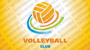 volleyball logo template 24629