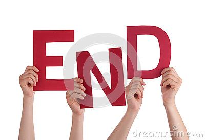 Character Building Letter Many Holding Word End Stock Photo Image 50300652