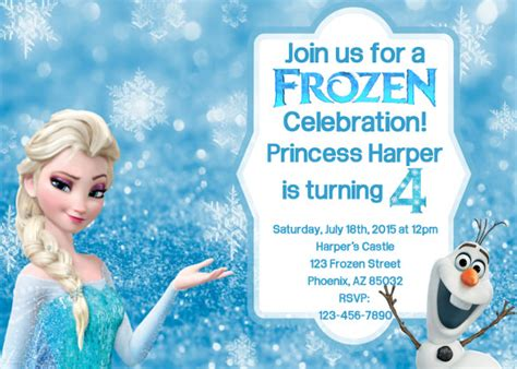 frozen birthday invitation template theruntime