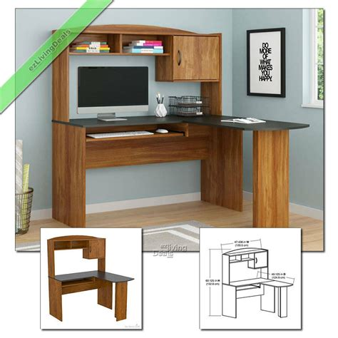 Desk Home Office by Home Office Desk With Hutch L Shaped Wood Corner Computer