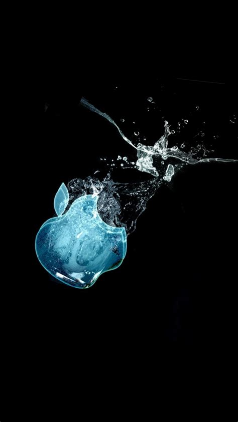wallpaper apple water download 1080x1920 apple logo water splash wallpapers for