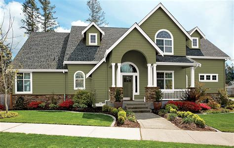 green house color olive green exterior paint