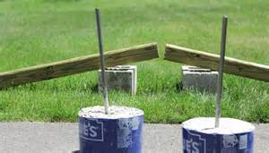 how to build backyard horseshoe pits dads table