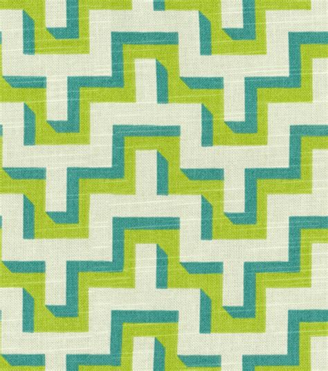 home decor print fabric hgtv home jigsaw turquoise jo