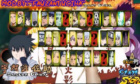 game naruto senki mod unlimitid coin download naruto senki mod full characters uchiha apk game