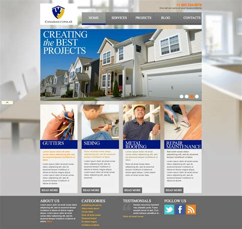 pictures websites using powerful images to market construction companies