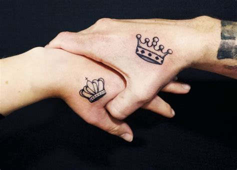 matching crown tattoos for couples crown tattoos for couples creativefan